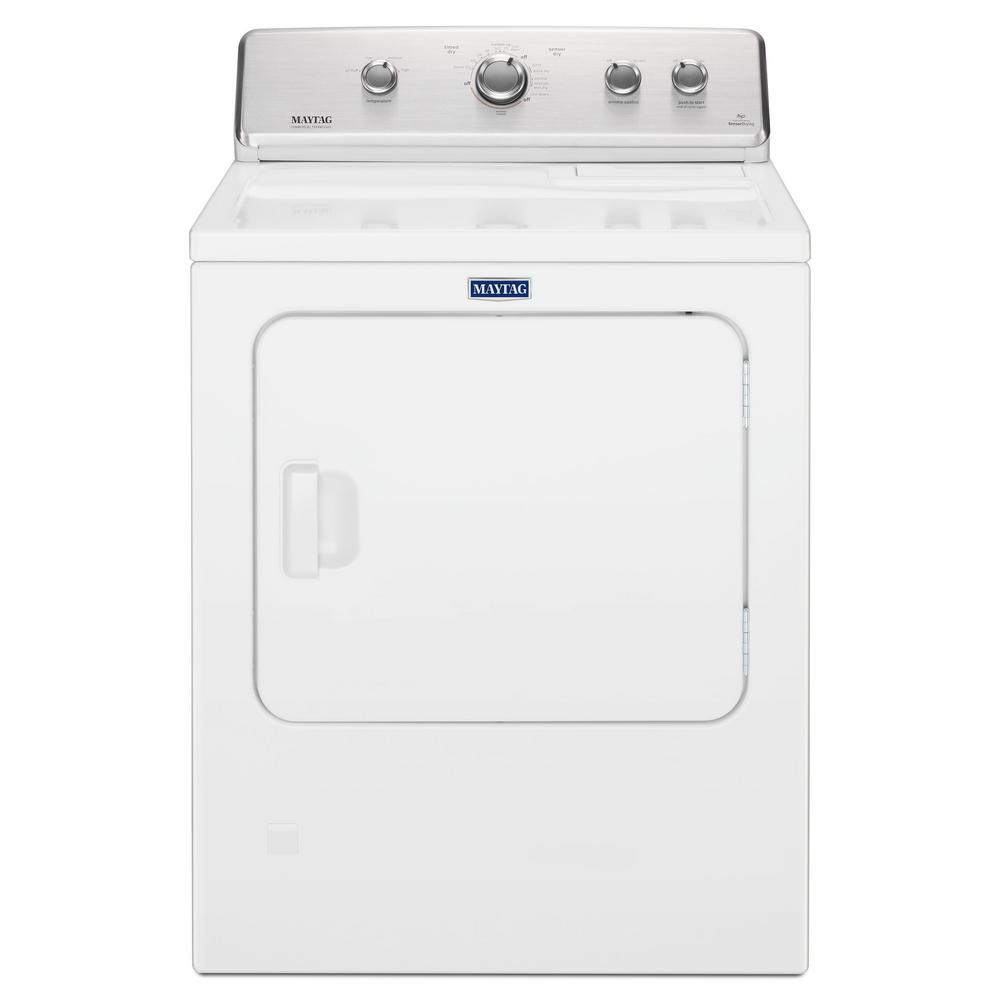 Maytag Maytag 7.0 cu. ft. 240-Volt White Electric Vented Dryer with Wrinkle Control