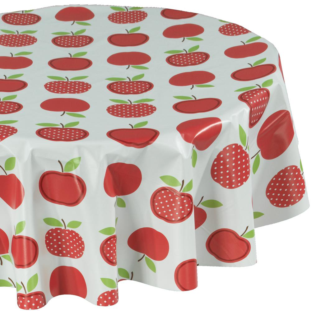 55 in. Multi-Color Round Indoor and Outdoor Sunflower Design Table Cloth