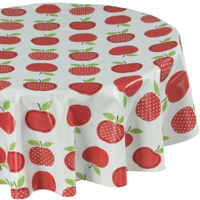 55 in. Multi-Color Round Indoor and Outdoor Sunflower Design Table Cloth for Dining Table