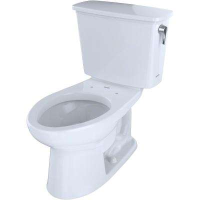 Eco Drake Transitional 2-Piece 1.28 GPF Single Flush Elongated Toilet with CeFiONtect and Right Lever in Cotton White