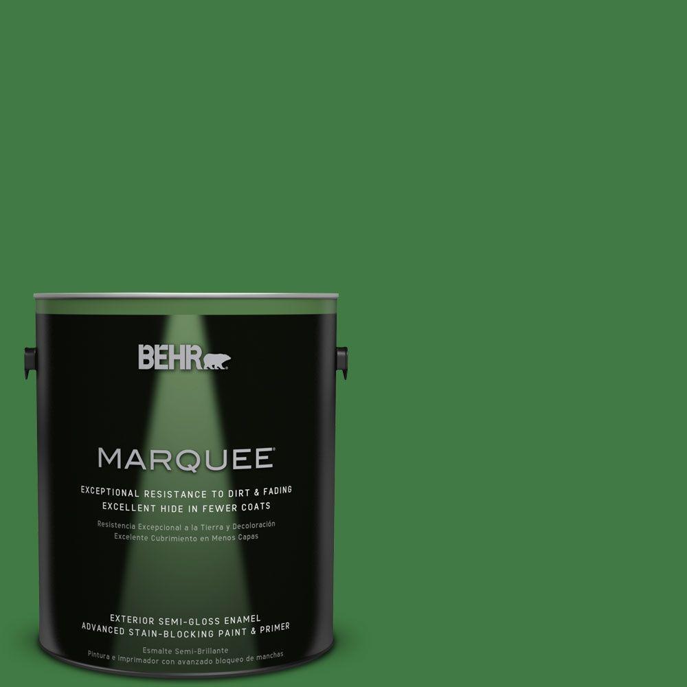 1-gal. #M390-7 Hills of Ireland Semi-Gloss Enamel Exterior Paint