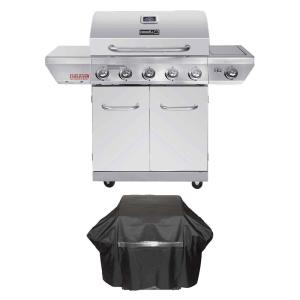 Nexgrill Evolution 5-Burner Propane Gas Grill in Stainless Steel with Side Burner and Infrared Technology Plus... by Nexgrill