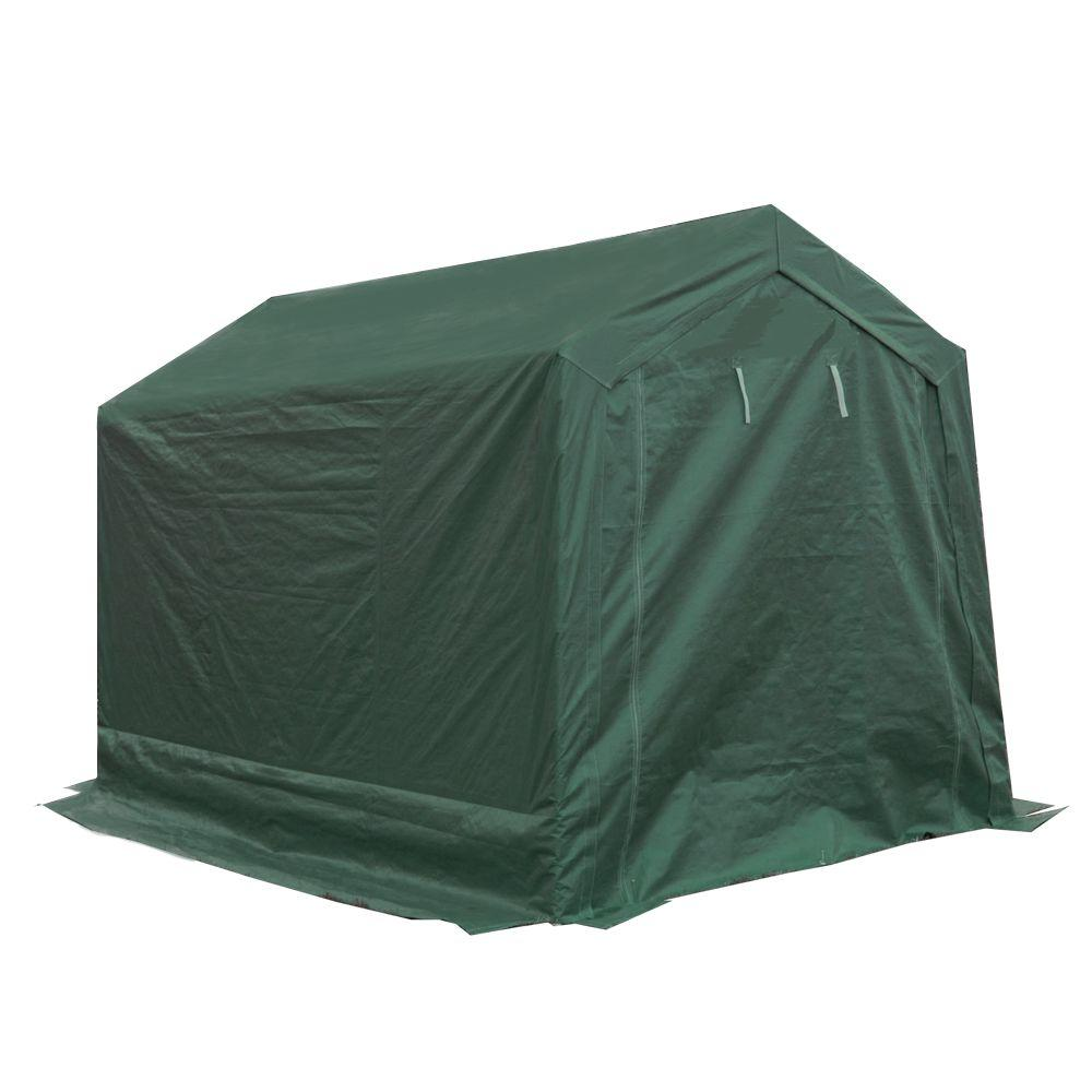Ordinaire King Canopy 7 Ft. W X 12 Ft. D Green Storage Shed