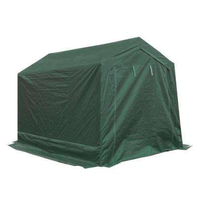 7 ft. W x 12 ft. D Green Storage Shed