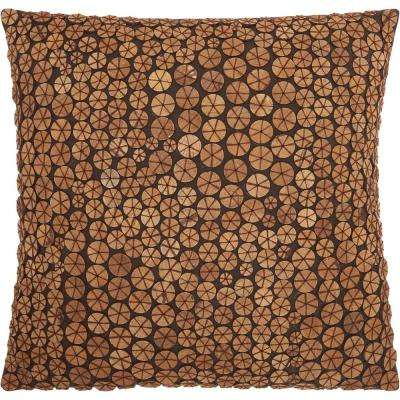 Buttons 20 in. x 20 in. Green Pillow