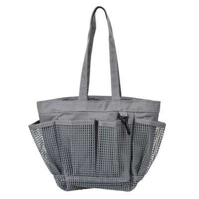 Portable Mesh Shower Caddy with 6 External Pockets and Key Holder