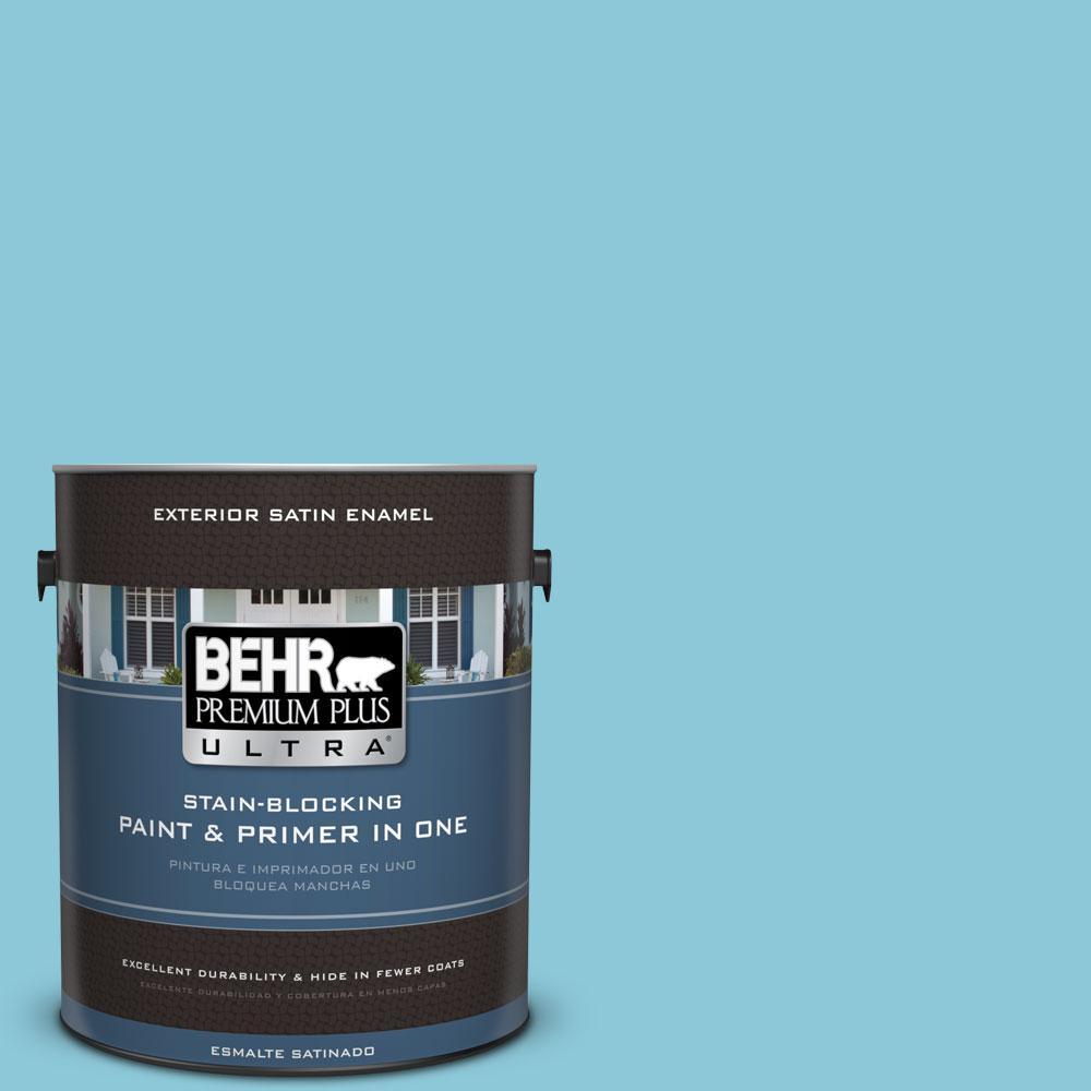 BEHR Premium Plus Ultra 1-gal. #530D-4 Maiden Voyage Satin Enamel Exterior Paint