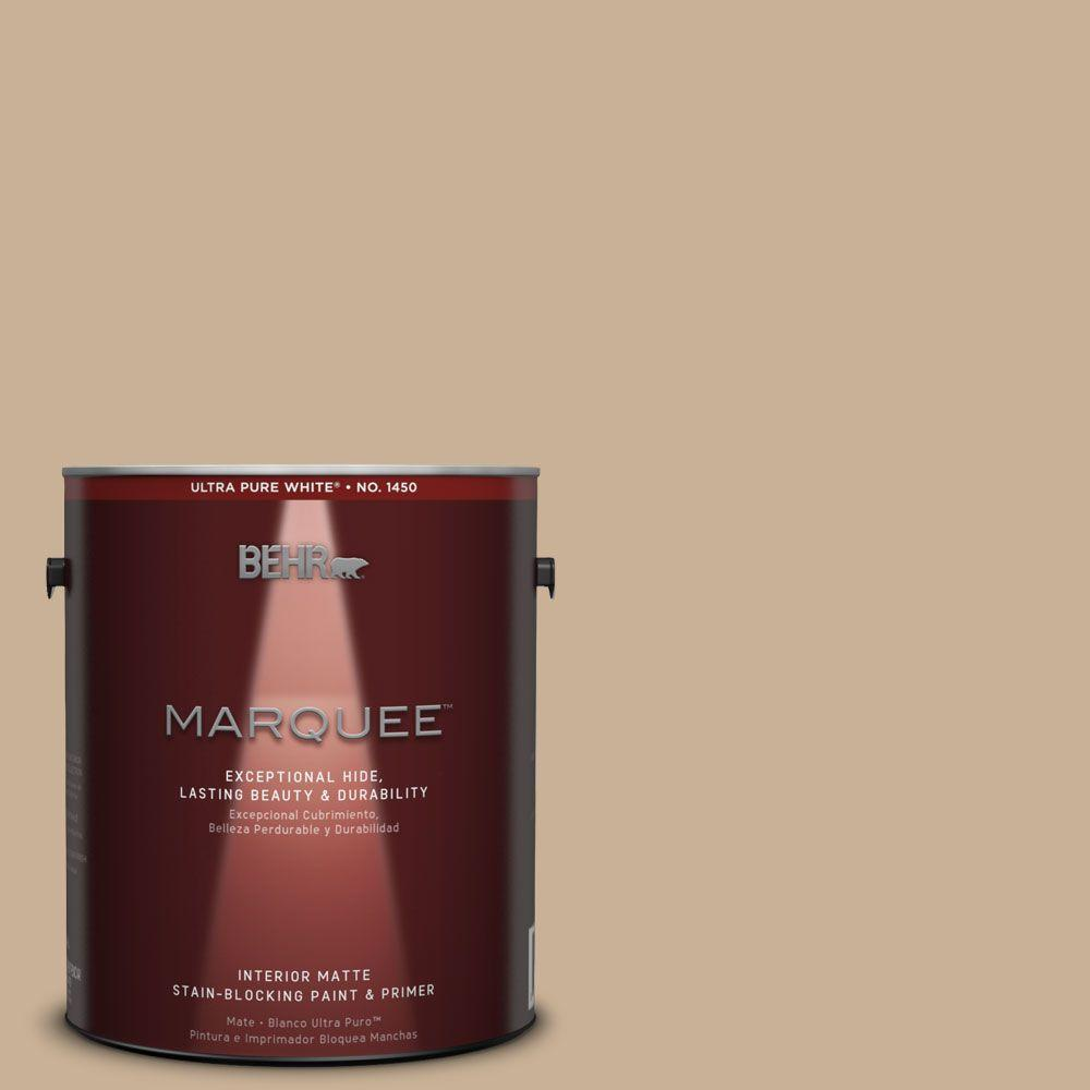 BEHR MARQUEE 1 gal. #MQ2-46 Basswood One-Coat Hide Matte Interior Paint