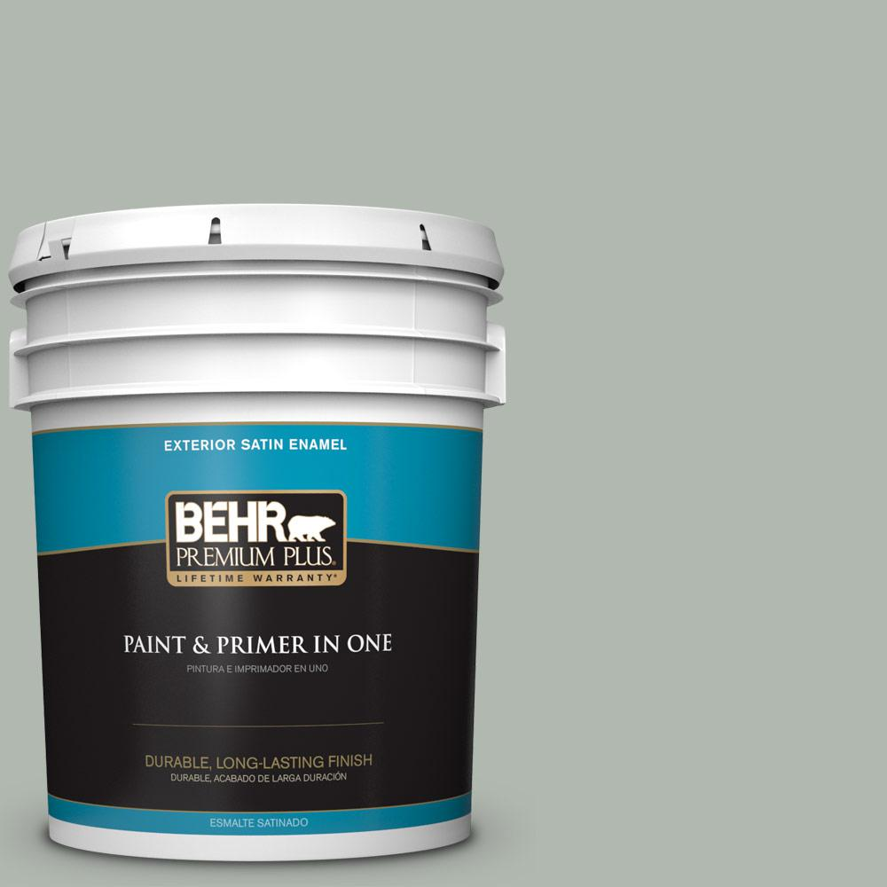 5 gal. #PPU12-15 Atmospheric Satin Enamel Exterior Paint