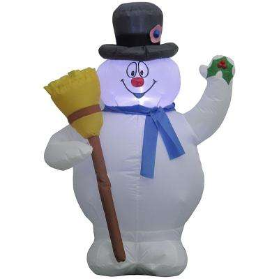 31.50 in. W x 21.65 in. D x 42.13 in. H Inflatable Airblown-Frosty with Broom