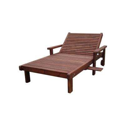 Wide Sun 1910-Mahogany Redwood Outdoor Chaise Lounge