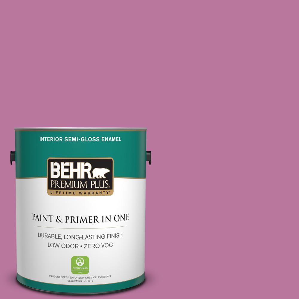 BEHR Premium Plus 1 gal. #T18-10 Wabi-Sabi Semi-Gloss Enamel Low ...
