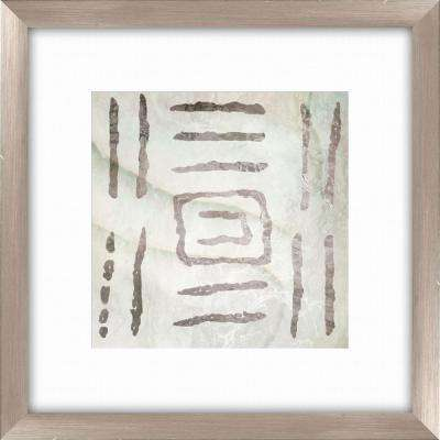 "20-1/2 in. x 20-1/2 in. ""Tribal Etched Lines C"" Framed Wall Art"