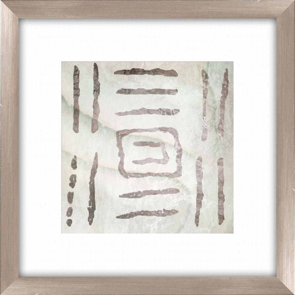 "PTM Images 20-1/2 in. x 20-1/2 in. ""Tribal Etched Lines C"" Framed Wall Art"
