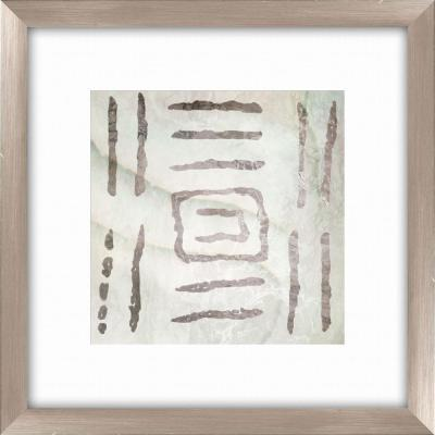 """20-1/2 in. x 20-1/2 in. """"Tribal Etched Lines C"""" Framed Wall Art"""