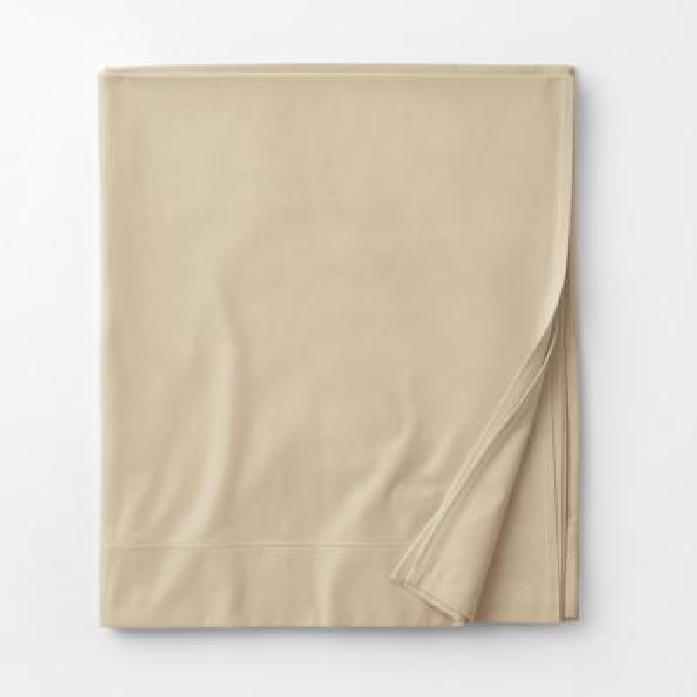 Legacy Velvet Flannel Alabaster Solid Extra Deep California King Flat Sheet