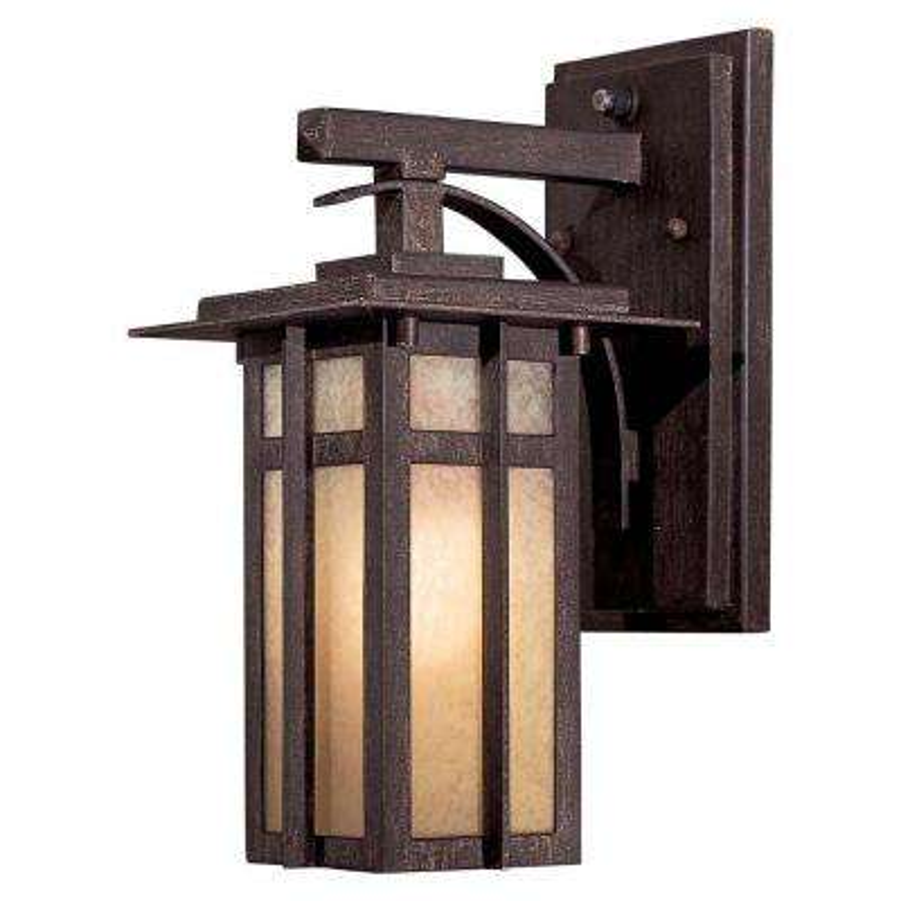 1-Light Iron Oxide Outdoor Wall Lantern Sconce