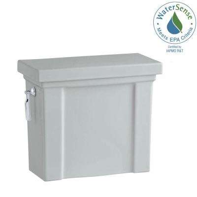 Tresham 1.28 GPF Single Flush Toilet Tank Only with AquaPiston Flushing Technology in Ice Grey