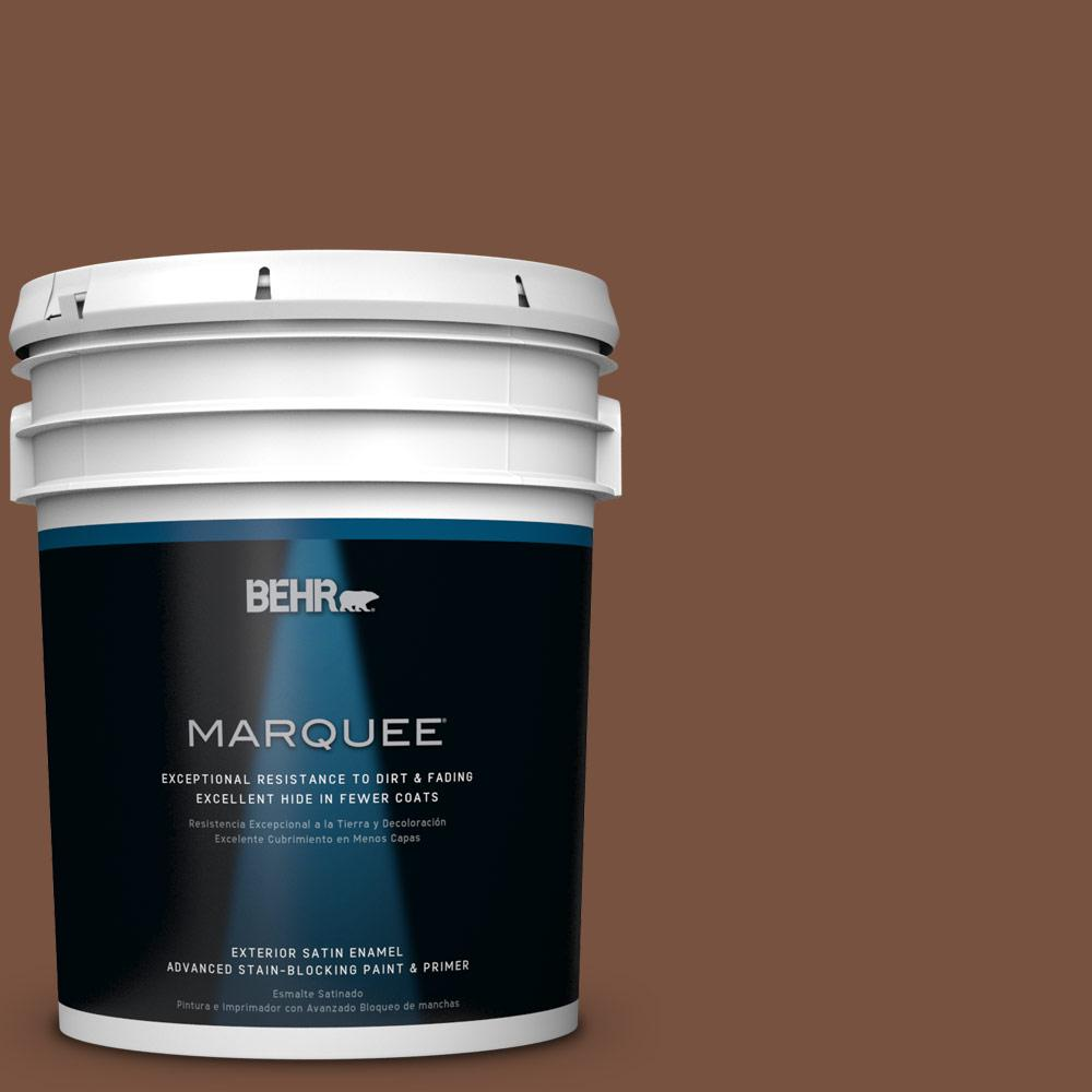 5-gal. #S200-7 Earth Fired Red Satin Enamel Exterior Paint