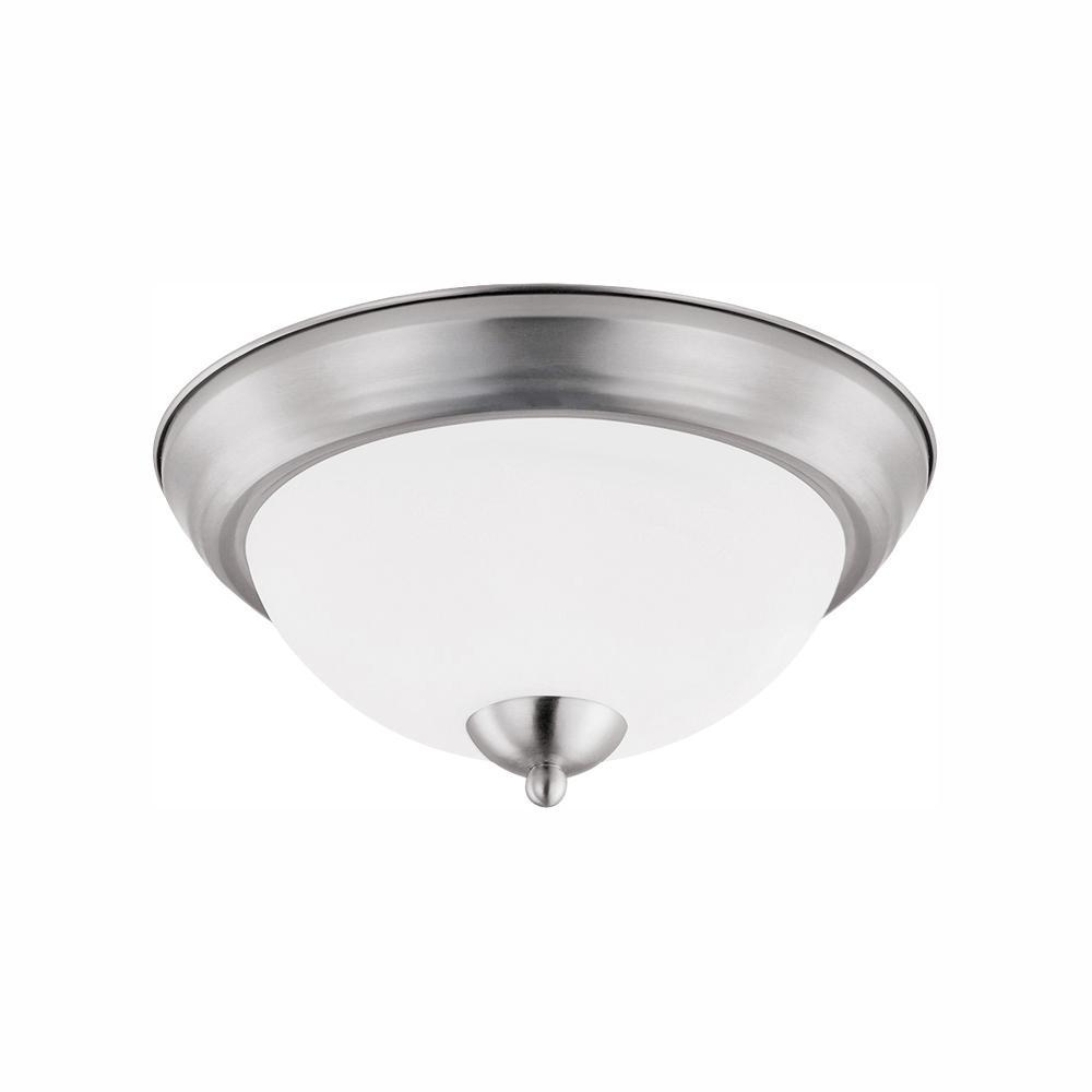 70-Watt Brushed Nickel Integrated LED Flush Mount