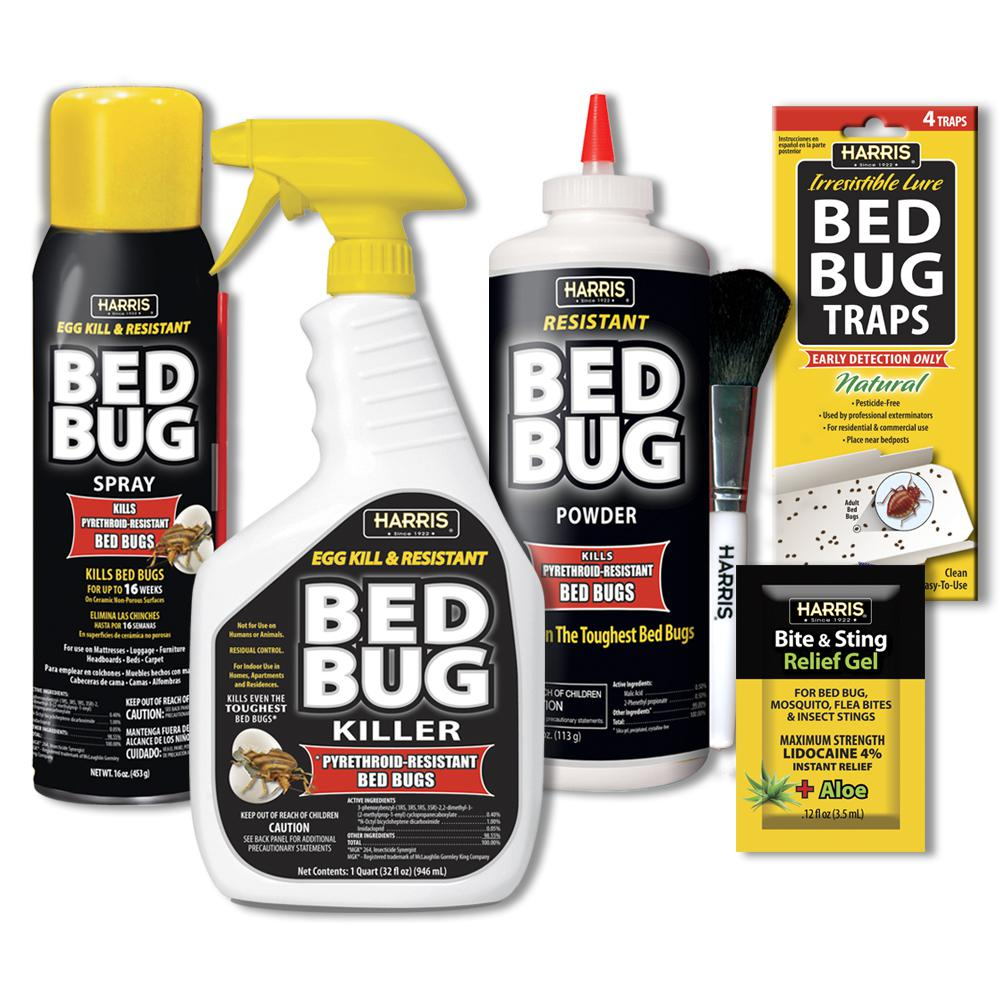 Bed Bug Spray Home Depot >> Harris Egg Kill and Resistant Bed Bug Kit-BLKBB-KIT32 - The Home Depot
