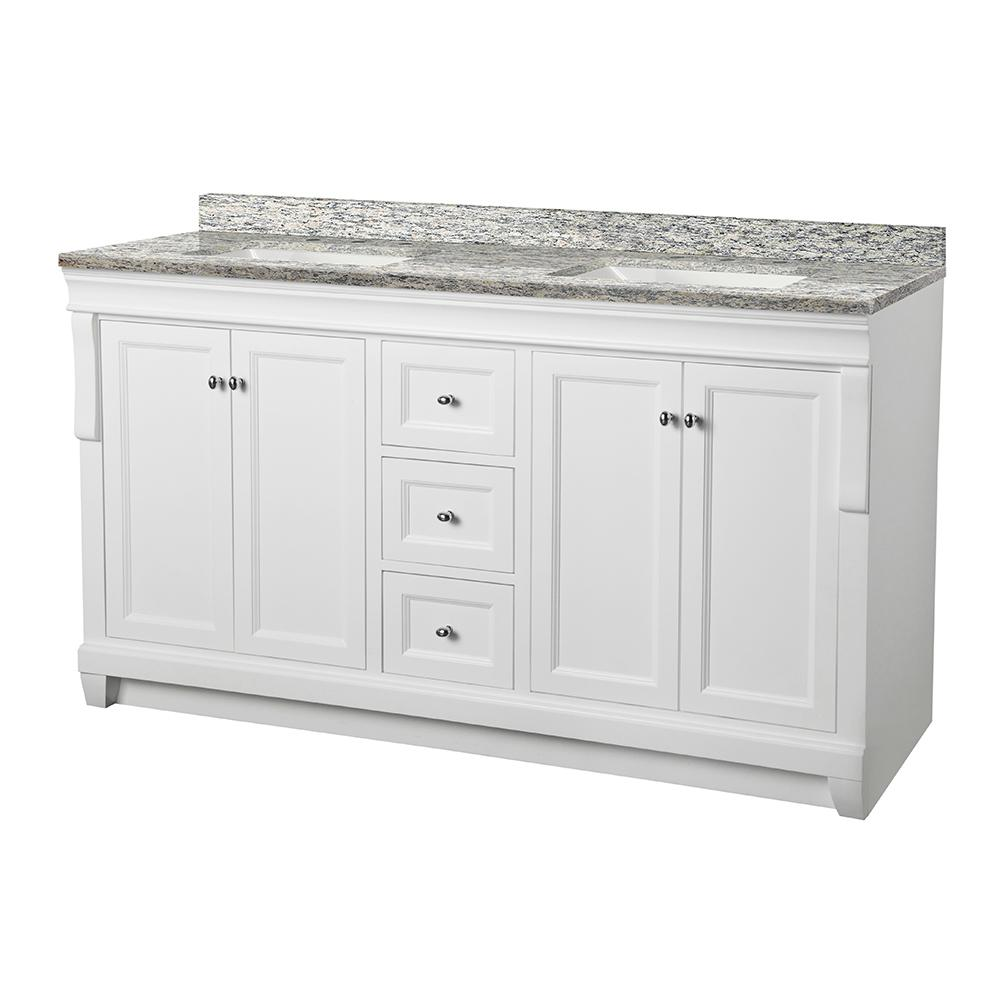 Foremost Naples 61 In W X 22 D Vanity White With