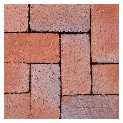 mission split 8 in x 4 in x 163 in tumbled clay red - Home Depot Patio Blocks