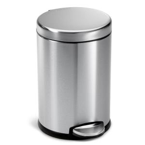 Simplehuman 4 5 liter fingerprint proof brushed stainless for Simplehuman trash can