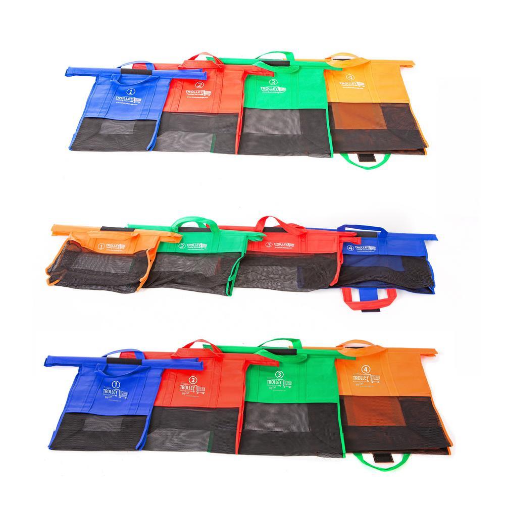 Trolley Bag Reusable Grocery Bag Set (12-Piece)