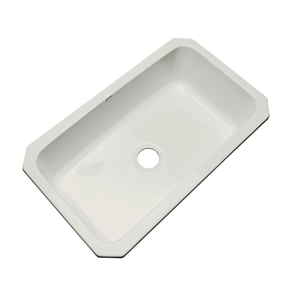 Thermocast Manhattan Undermount Acrylic 33 in. Single Bowl Kitchen Sink in Sterling Silver