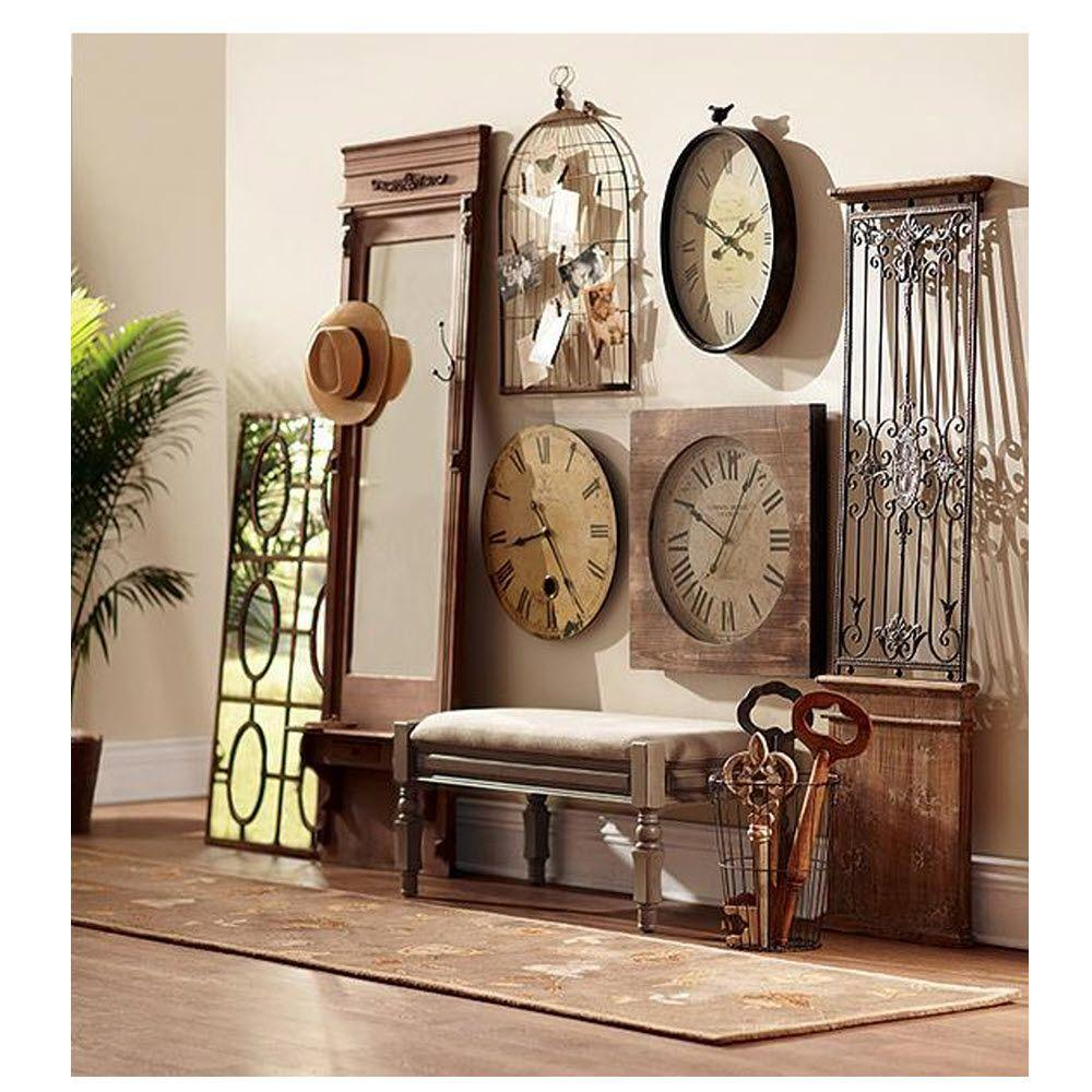 Home Decorators Collection Baroness 71 In Iron Wood Wall Gate 0729500900 The Home Depot