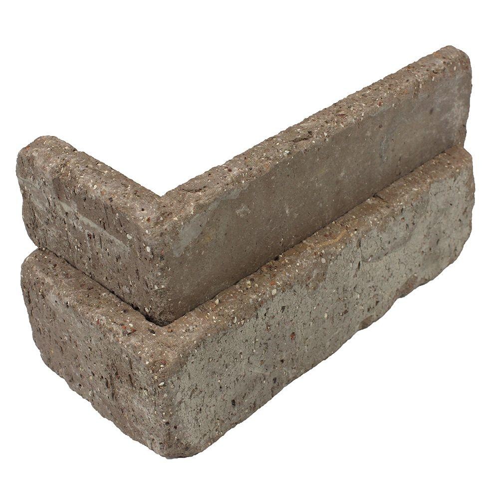 Old Mill Brick Rushmore Thin Brick Singles - Corners (Box of 25) - 7.625 in x 2.25 in (5.5 linear ft)