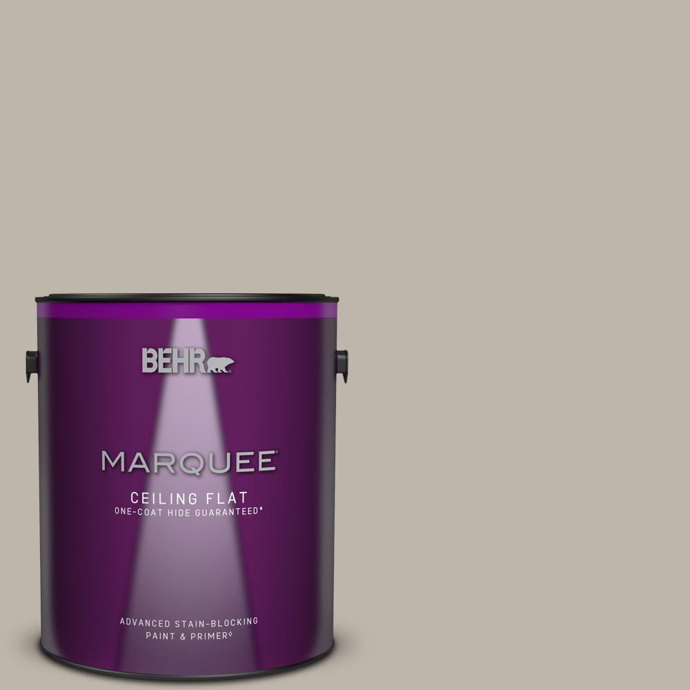 BEHR MARQUEE 1 gal. #HDC-CT-21 Grey Mist One-Coat Hide Ceiling Flat Interior Paint and Primer in One