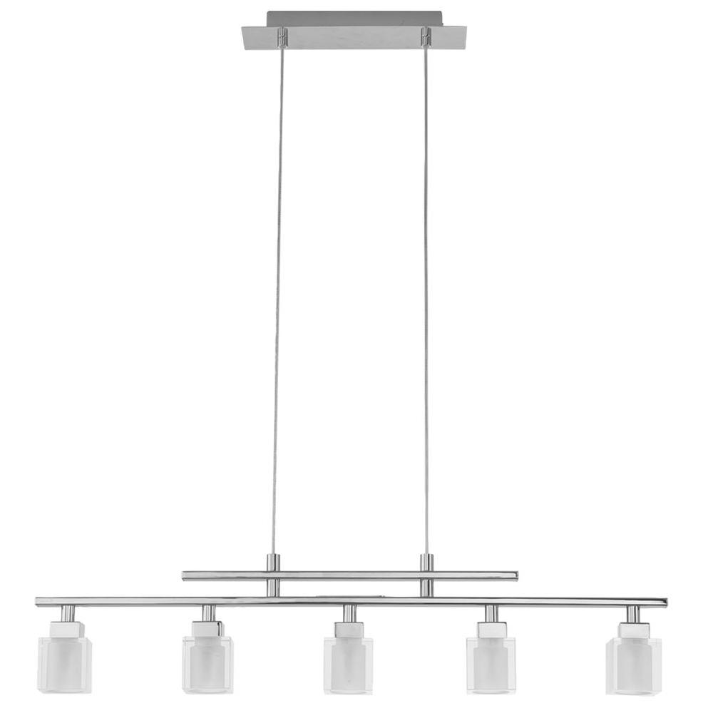 EGLO Tanga Light Chrome Hanging Island LightA The Home Depot - Hanging island light fixture