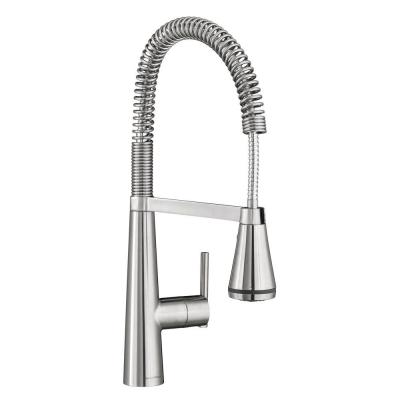 Edgewater Semi-Professional Single-Handle Pull-Down Sprayer Kitchen Faucet with SelctFlo in Stainless Steel