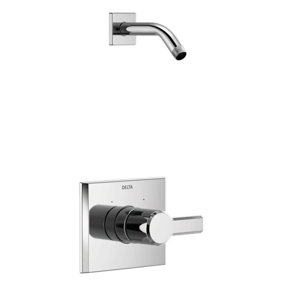 Pivotal 1-Handle Wall-Mount Shower Trim Kit in Chrome (Valve and Shower