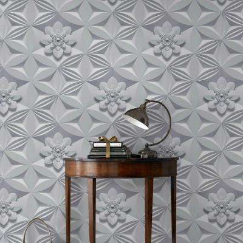 gray wall flower wallpaper - Flower Wallpaper For Walls
