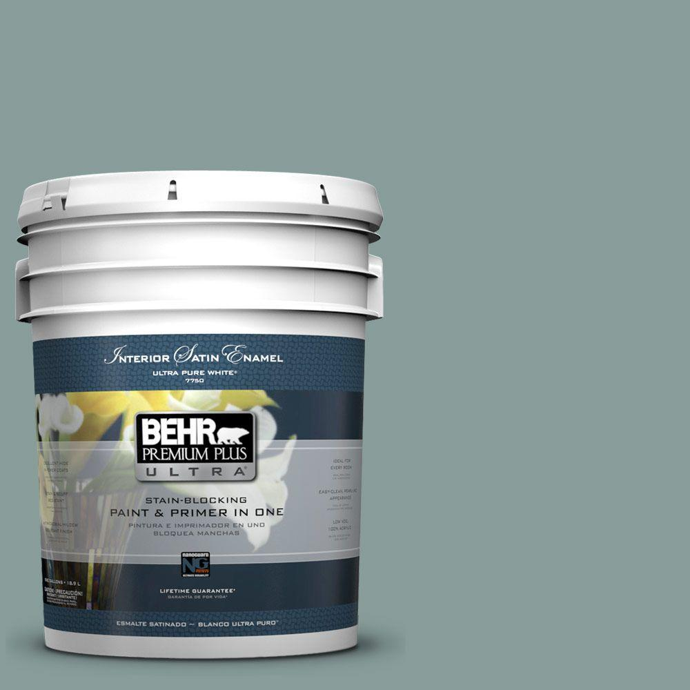 BEHR Premium Plus Ultra 5-gal. #PPU12-4 Agave Satin Enamel Interior Paint