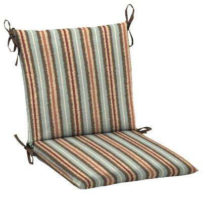 Elaine Ikat Stripe Mid-Back Outdoor Dining Chair Cushion