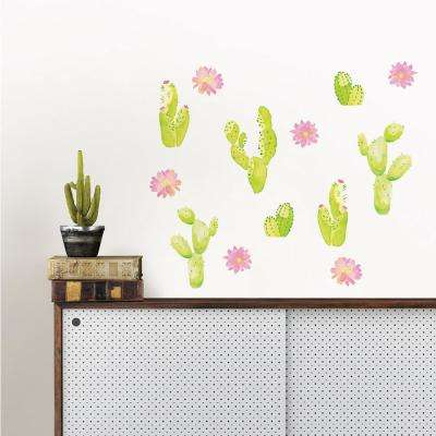 Pink Sedona Cacti Wall Art Kit