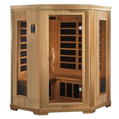 3-Person Far Infrared Healthy Living Sauna with Chromotherapy and CD/Radio with MP3 Connection