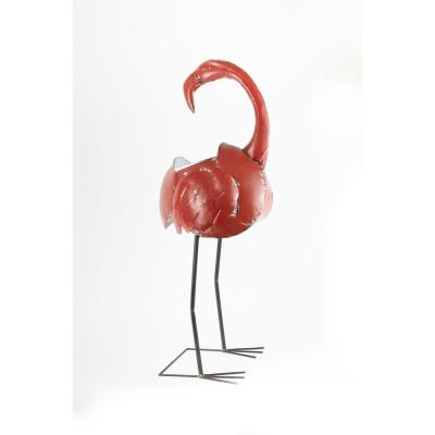 Flamingo Red Reclaimed Metal Cooler or Planter with Removable Tub