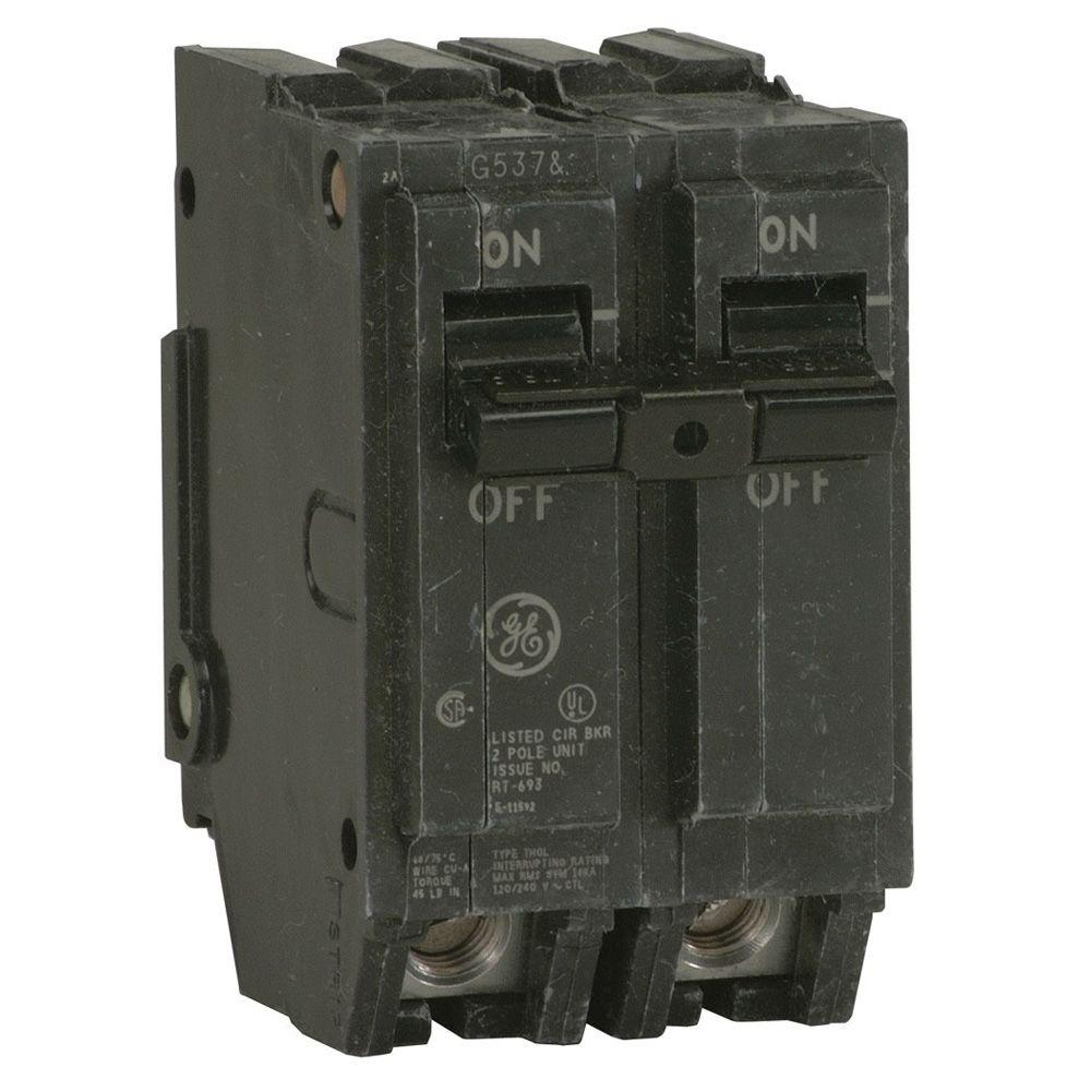 GE Q-Line 20 Amp 2 in. Double-Pole Circuit Breaker