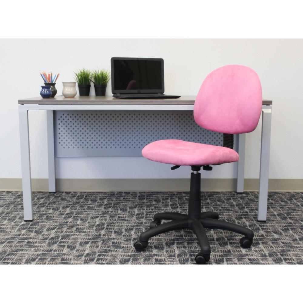 Boss Pink Microfiber Deluxe Posture Chair