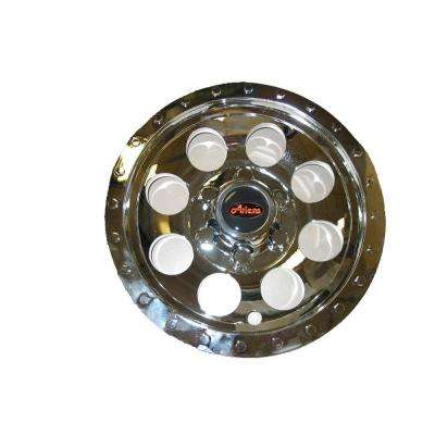 8 in. Chrome Wheel Covers for Ariens Zoom 34 in. Mowers (2-Pack)