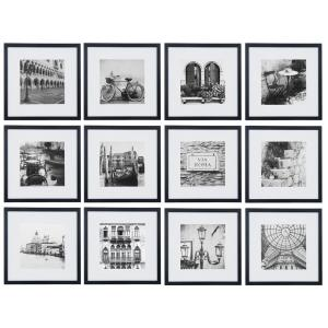Gallery Perfect 8 in. x 8 in. Black Collage Picture Frame Set