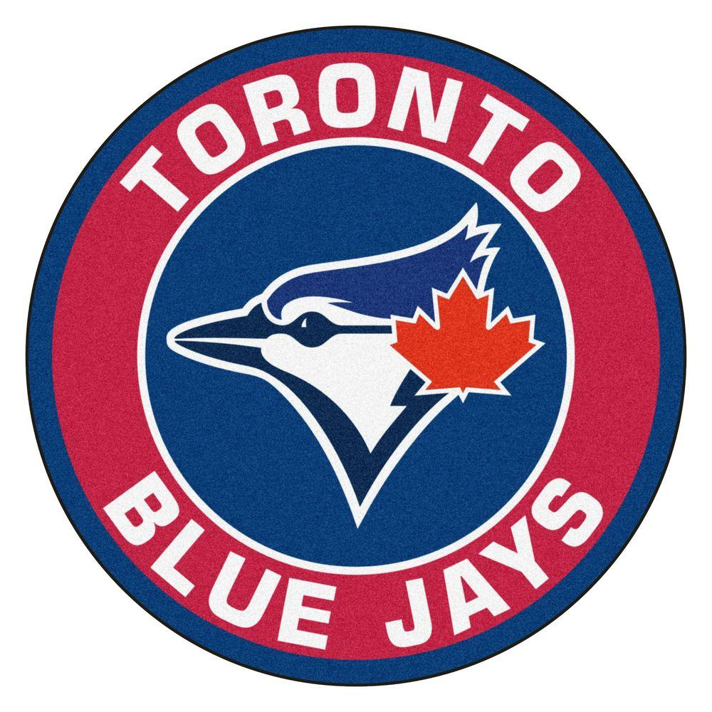 Fanmats Mlb Toronto Blue Jays Red 2 Ft X 2 Ft Round Area