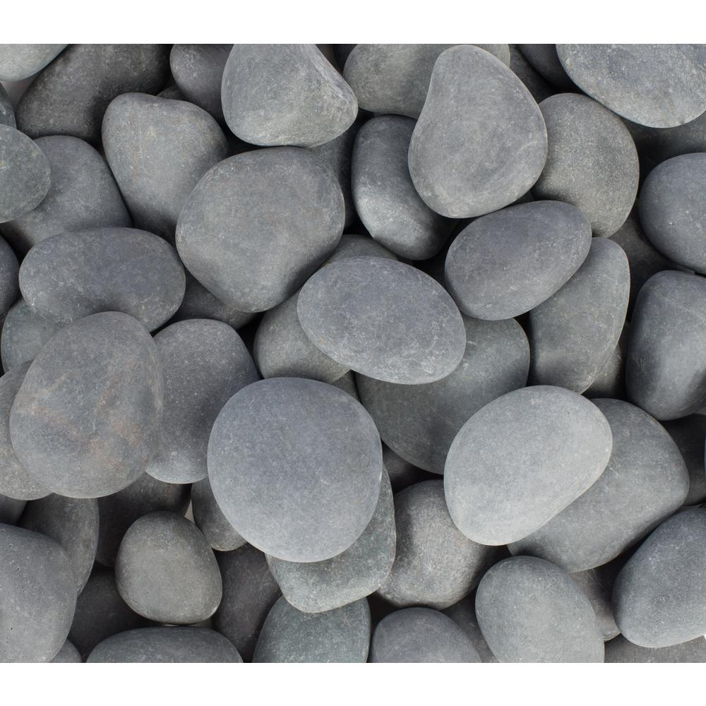 Rain Forest 0.5 in. to 1 in., 3000 lb. Mexican Beach Pebbles (Bulk Pallet)