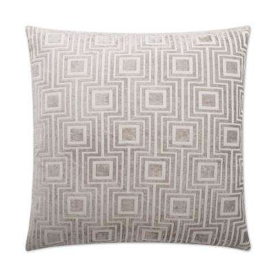 Pathway Grey Feather Down 24 in. x 24 in. Standard Decorative Throw Pillow
