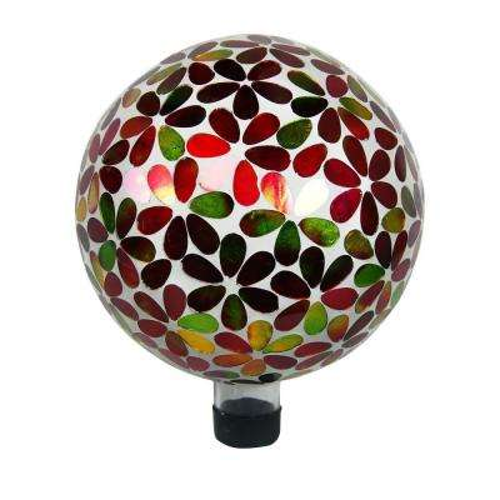 10 in. Gazing Globe Multi Color Circles